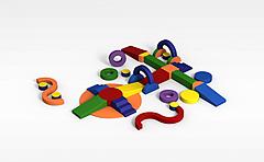 儿童积木模型3d模型