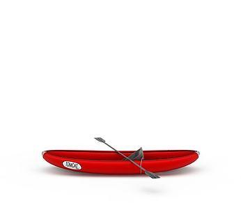 红色皮筏艇