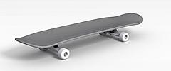 双翘滑板模型3d模型