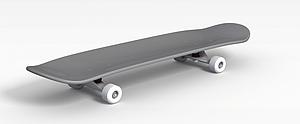 双翘滑板模型