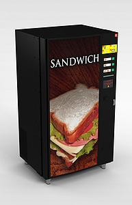 3d自动食品售货机模型