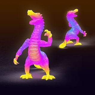 恐龙造型花灯3d模型