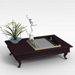 3d黑白<font class='myIsRed'>国际象棋</font>模型