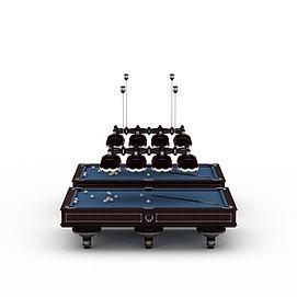 现代台球桌3d模型