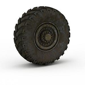 汽车轮胎模型