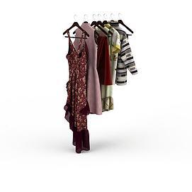 3d女人衣橱模型