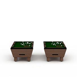 成人台球桌3d模型