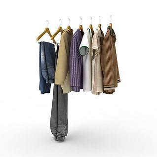 男人衣橱3d模型