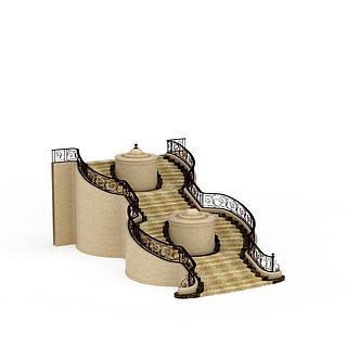 欧式<font class='myIsRed'>楼梯</font>3d模型