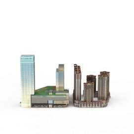 商业大楼沙盘模型3d模型