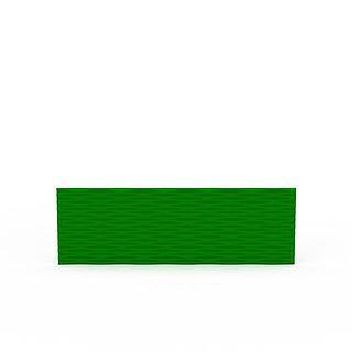 绿色背景墙3d模型