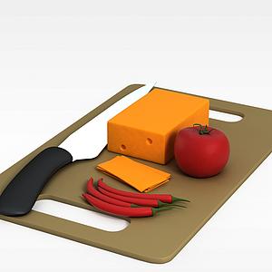 3d绿色蔬菜模型