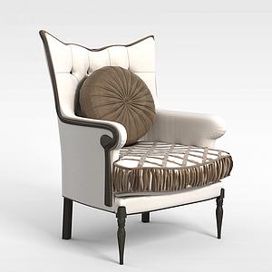 3d休閑單人沙發模型