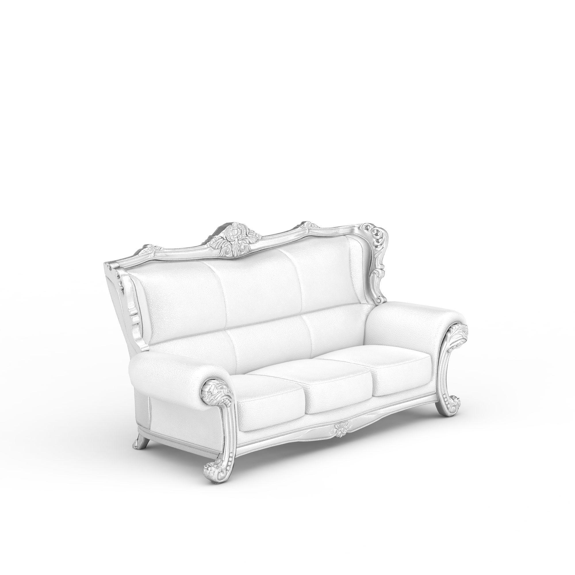 白色沙发3d模型 白色沙发png高清图  白色沙发高清图详情 设计师 3d