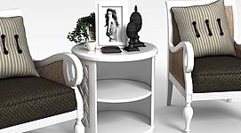 阳台椅子组合3d模型