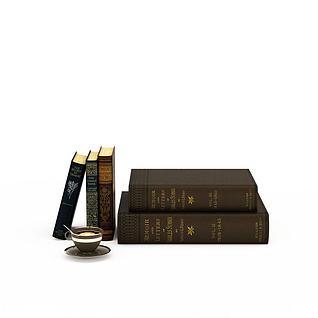外语书籍3d模型