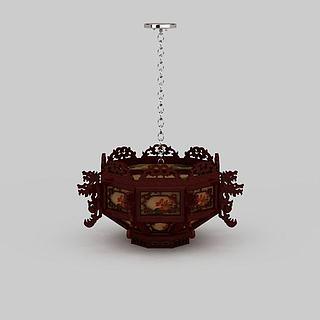 中式吊灯3d模型