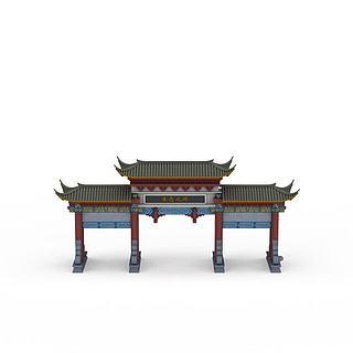复古大门3d模型