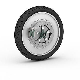 自行车车胎3d模型
