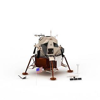 月球探测卫星3d模型