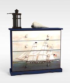 <font class='myIsRed'>帆船</font>鞋柜3d模型