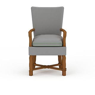 休闲单人椅3d模型