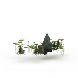 山石景观组合3d模型