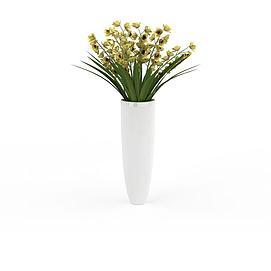 花卉盆景模型