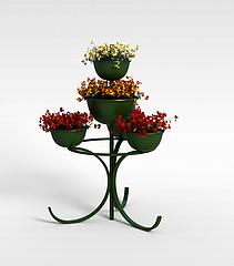 花盆装饰模型3d模型