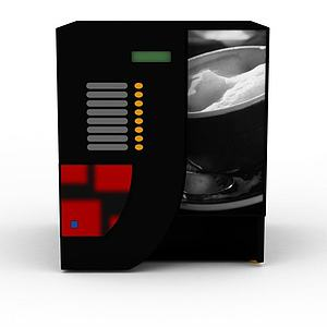 3d商用自动贩卖机模型