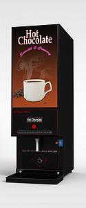 3d黑色自动咖啡机模型