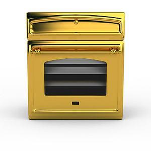 3d金色高檔<font class='myIsRed'>烤箱</font>模型