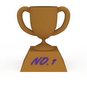 简约奖杯模型3d模型