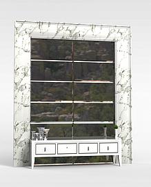 3d电视墙模型