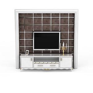 电视背景墙免费3d模型