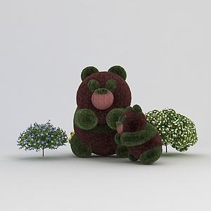 3d<font class='myIsRed'>熊貓</font>園藝造型模型