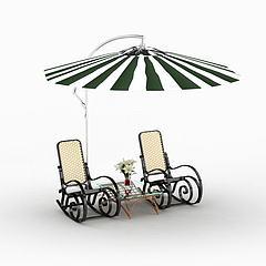 室外遮阳伞模型3d模型