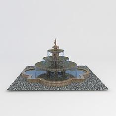 公园喷泉3D模型3d模型