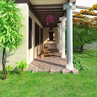 园林建筑3d模型
