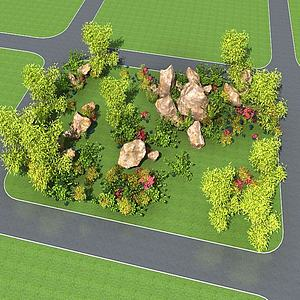 3d园林景观模型