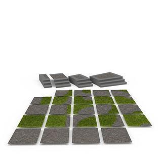 公园地砖3d模型