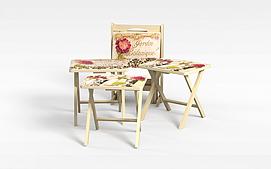 原木椅3d模型