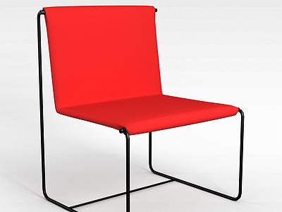 3d<font class='myIsRed'>紅色</font>椅子模型