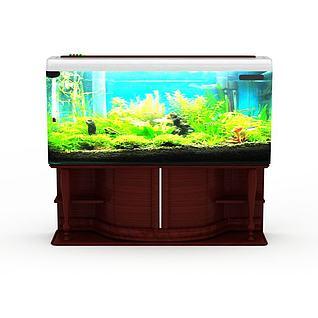 精美鱼缸3d模型