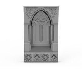 欧式建筑构件3d模型