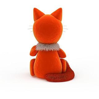 卡通猫玩具3d模型