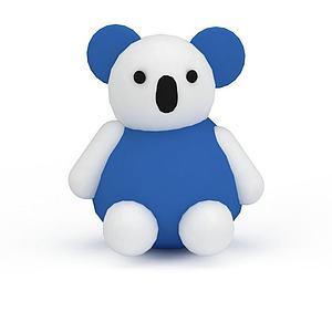 蓝色小熊模型3d模型