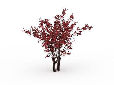 3d<font class='myIsRed'>紅色</font>灌木模型