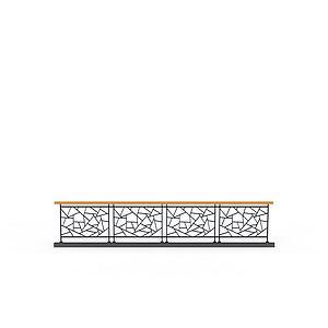 3d楼梯<font class='myIsRed'>栏杆</font>模型