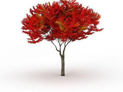 3d<font class='myIsRed'>紅色</font>樹免費模型